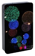 Colorful Christmas Lights Decoration Display In Madrid, Spain. Portable Battery Charger