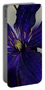 Colorful Clematis Portable Battery Charger