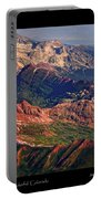 Colorful Colorado Rocky Mountains Planet Art Poster  Portable Battery Charger