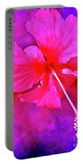 Colorful Cosmic Flower-hibiscus Portable Battery Charger
