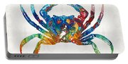 Colorful Crab Art By Sharon Cummings Portable Battery Charger