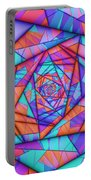 Colorful Cuts Fractal Portable Battery Charger