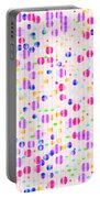 Colorful Dots On Pink Portable Battery Charger