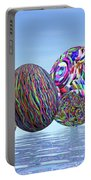 Colorful Eggs For Easter - 3d Render Portable Battery Charger
