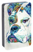 Colorful English Bulldog Art By Sharon Cummings Portable Battery Charger