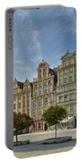 colorful facades on Market Square or Ryneck of Wroclaw Portable Battery Charger