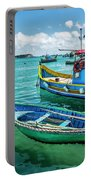 Colorful Fishing Boats Portable Battery Charger