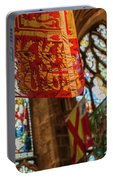 Colorful Flags And Stained Glasss Windows Portable Battery Charger
