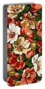 Colorful Floral Design Portable Battery Charger