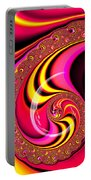 Colorful Fractal Spiral Red Yellow Pink Portable Battery Charger