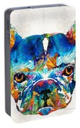 Colorful French Bulldog Dog Art By Sharon Cummings Portable Battery Charger