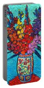 Colorful Gladiolus Portable Battery Charger