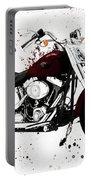 Colorful Harley Davidson Paint Splatter Portable Battery Charger