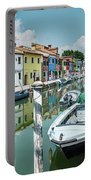 Colorful Homes Of Burano Portable Battery Charger