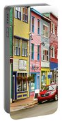 Colorful Houses In St Johns In Newfoundland Portable Battery Charger