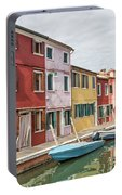 Colorful Houses On The Island Of Burano Portable Battery Charger