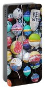 Colorful Key West Lobster Buoys Portable Battery Charger by John Stephens
