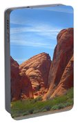 Colorful Landscape Rock Mountains Of Overton Nevada  Portable Battery Charger