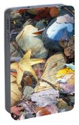 Colorful Leaves And Rocks In Creek Portable Battery Charger