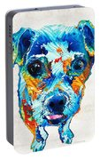 Colorful Little Dog Pop Art By Sharon Cummings Portable Battery Charger