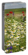 Colorful Meadow With Wild Flowers Portable Battery Charger