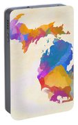 Colorful Michigan Portable Battery Charger