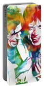Colorful Mick And Keith Portable Battery Charger