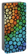 Colorful Mosaic Art - Blissful Portable Battery Charger