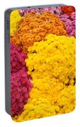 Colorful Mum Flowers Fine Art Abstract Photo Portable Battery Charger