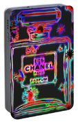Colorful Neon Chanel Five  Portable Battery Charger