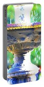 Colorful New Orleans Fountain Portable Battery Charger