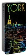 Colorful New York City Skyline Portable Battery Charger