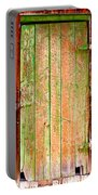 Colorful Old Barn Wood Door Portable Battery Charger