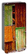 Colorful Old Barn Wood Portable Battery Charger