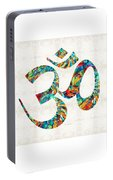 Colorful Om Symbol - Sharon Cummings Portable Battery Charger