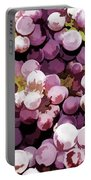 Colorful Pink Tasty Grapes In The Basket Portable Battery Charger