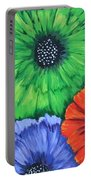Colorful Poppy Lime Portable Battery Charger
