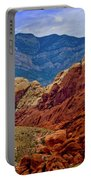 Colorful Red Rock Portable Battery Charger