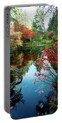 Colorful Reflection In Autumn Gardens. Portable Battery Charger