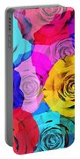 Colorful Roses Design Portable Battery Charger