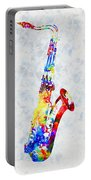 Colorful Saxophone Portable Battery Charger