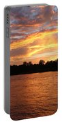 Colorful Sky At Sunset Portable Battery Charger