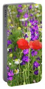 Colorful Spring Wild Flowers Portable Battery Charger