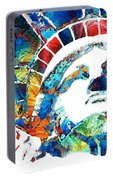 Colorful Statue Of Liberty - Sharon Cummings Portable Battery Charger