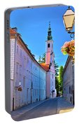 Colorful Street Of Baroque Town Varazdin  Portable Battery Charger