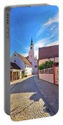 Colorful Street Of Baroque Town Varazdin View Portable Battery Charger