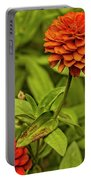 Colorful Summer Flowers Portable Battery Charger