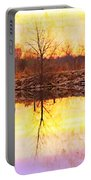 Colorful Sunrise Textured Reflections Portable Battery Charger