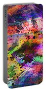 Colorful Sunset Debris  Portable Battery Charger