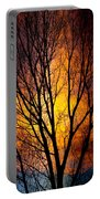 Colorful Tree Silhouettes Portable Battery Charger
